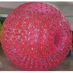 Bola inflable de Zorb del solo color rojo para los niños