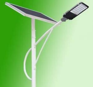 China 40W Aluminum Alloy Solar LED Street Light All In One Solar Sensor Street Lamp With Pole With Two Battery System on sale