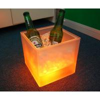 Hot Promotional Plastic led ice bucket with Double layer