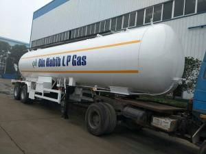 China 18MT LPG Tanker Truck Trailer Customized 2 Axle Gas Transport Semi Trailer on sale