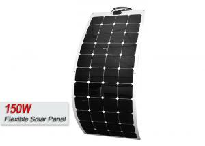 Quality Thin 160W Sunpower Semi Flexible Solar Panels With 30 Degree Bending Angle for sale