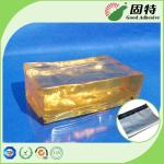 El bolso sólido del amarillo principal de los ingredientes SBS y del bloque transparente repara piezosensible adhesivo del derretimiento caliente del PSA basado