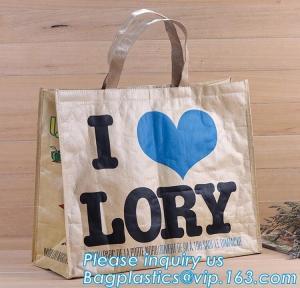 China Reusable Advertising PP Woven Shopping Bag,Custom Laminated Shopping PP Woven Bag Promotional Tote Bag, bagplastics pack on sale