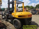 Used 2010year Japan TCM FD70Z8 Diesel Forklift Truck , Used 7ton TCM manual forklift Selling in China