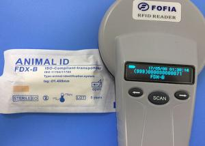 China CE 134.2khz Microchip Dog Scanner , RFID Smart Reader With LCD Display on sale