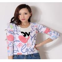 Fancy V Neck Womens Cardigan Sweaters anti-wrinkle with Multicolored stripes , Full Sleeves