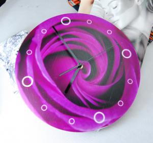 China Personalised Purple Flower Contemporary Wall Clocks LY-009 on sale