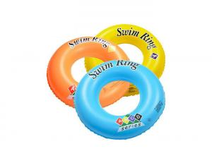 China Custom plastic PVC inflatable baby donut neck swim ring for advertising on sale
