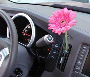 China Red / Pink Daisy Decorative Car Flower Vase, Auto Vases For Car's Air Vent TS-AV02 on sale