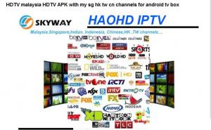 Quality HDTV malaysia HDTV APK with my sg hk tw cn channels for android tv box for sale