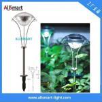 La seta solar del punto del acero inoxidable del RGB del camino de la luz de la luz solar solar de la participación enciende la lámpara solar del paraguas para el jardín