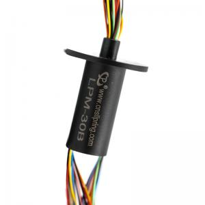 China 250mm Rotating Ethernet Slip Ring 30 Circuits Miniature Slip Ring on sale