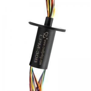 China 250mm Rotating Ethernet Slip Ring 30 Circuits Miniature Slip Ring on sale
