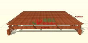 China Waterproof Pergola Shade Covers , Underground Parking Garage Entrance Corner Pergola Kits on sale