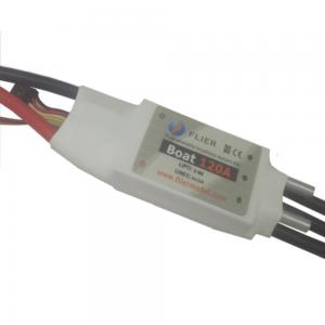 China 2-8S Lipo 120A 5V/2A BEC ESC Electronic Speed Controller For Boat 95*28*32mm Size on sale