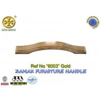 China Spec 96/128/160mm  No 6003 metal cabinet pull zinc furniture hardware gold color on sale