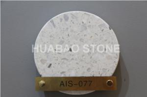 China Artificial stone terrazzo flooring  wall cladding no-resin for hotel plaza stores on sale