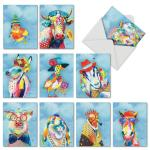 Cartoon Animal Custom Made Greeting Cards Lovely Color Printing Cover For Children