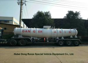 China 17000L ~21000L Chemical Tanker Truck , Sulphuric Acid Tanker Trailer V shape on sale