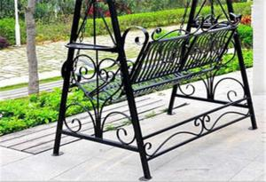 Quality Metal Garden Other Furniture Two Seater Wrought Iron Hanging Swing  Chair For Sale ...