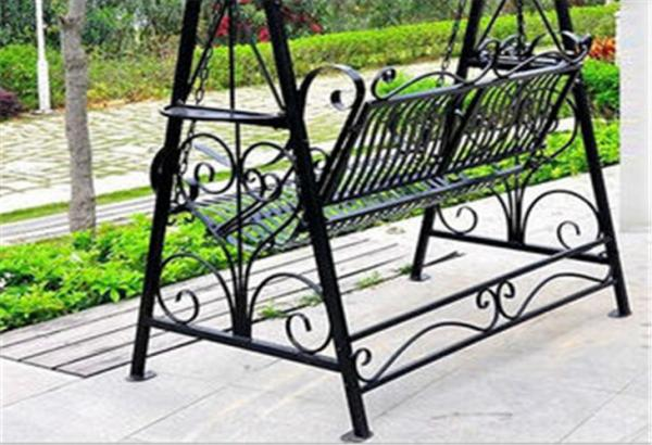 Metal Garden Other Furniture Two Seater Wrought Iron Hanging Swing Chair  Images