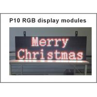 P10 RGB led Scrolling display message board Outdoor full color LED display Support USB programmable for led sign