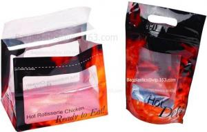 China die-cut handle BAGS, TAKE AWAY Bag, Rotisserie Chicken Bags, Microwave Grilled Chicken bag on sale