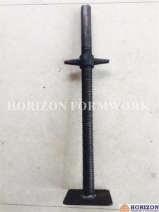China Hi - Tensile Steel Adjustable Screw Jack / Base JackPipe 38x4mm Hot Dip Galvanized on sale