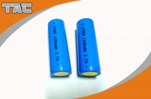 China Lithium ion Cell 3.7v Cylindrica Battery LI-ION 18500 1100mAh For Textile Machine on sale