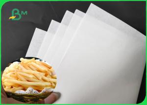 China 1200MM 30GSM - 60GSM White French Fries Wrapping Paper 10 / 15GSM PE Coated on sale