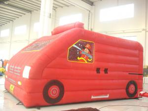China Red Car Inflatable Bouncer Toy Customized Size Quick Deflation UV Resistant on sale