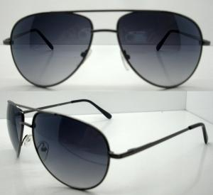 China Polarized Sunglasses With Oval Metal Frame , Men Reflective Sunglasses on sale