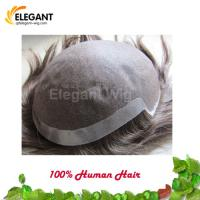 Top Quality Virgin Remy Human Hair Replacement Men Use Toupee