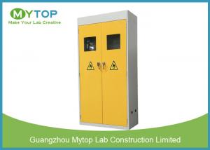 China Yellow Safety Fire Rated Gas Cylinder Storage Cabinet With Alarm 900 mm Width supplier