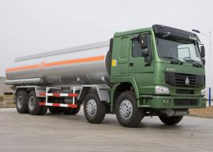 China 25 CBM Lpg Tanker Truck , HOWO Four Axles 371HP Fuel Oil Delivery Truck on sale