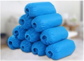China Blue Non Woven Shoe Cover Fluid Resistant Non Slip With Ce Certification on sale