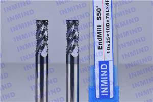 China Solid Carbide High Speed Milling Cutters For Tempered Steel / Stainless Steel on sale