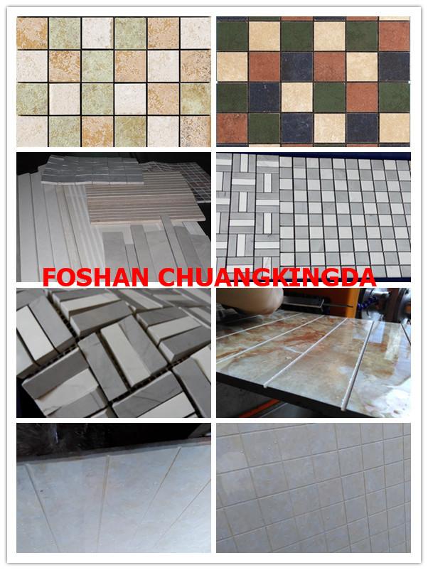 Cut ceramic tiles