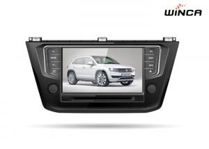 China Black Volkswagen GPS Navigation 2016 8 Inch Screen Vw Touran Dvd Player on sale