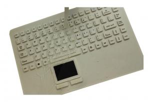 Sterile clean medical silicone keyboard with touchpad and