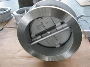 China Flanged Dual Plate Wafer Check Valve , Full Port Wafer Lug Type Check Valve on sale