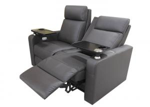 China Black Upholstery Leather Cinema Theater Recliner Sofa on sale