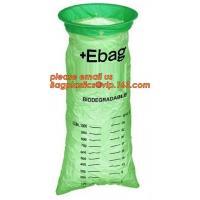 100% Biodegradable Disposable Healthcare Emesis Bag,Medical Emesis Bag with a Rigid Plastic Ring,Biodegradable Emesis Ba
