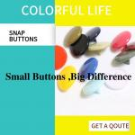 Lightweight Colored Bulk Plastic Snap Buttons Cap Post Fasteners Shiny & Matte Finish