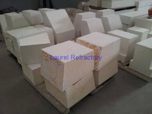 Quality Fire Resistant Corundum Refractory Bricks , Fused Zircon Corundum Brick for sale