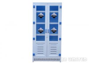 China Blue And White Chemical Storage Cabinets With Leveling Feet MCSC-D02 on sale