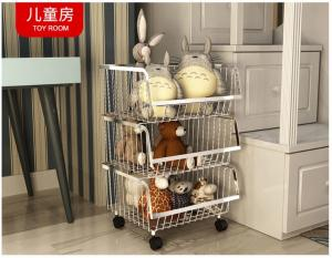 China Modern Stackable Metal Kitchen Storage Racks / Bin Basket For Houseware Storage on sale