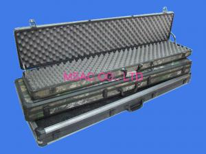 China Black Aluminum Hard Rifle Case , Army Gun Carrying Case For Packing Guns on sale