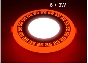 China LED Ceiling Lights For Homes , LED Recessed Ceiling Lights Double Color 6 + 3W on sale