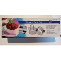 FB141007 wholesales set of 4 stainless steel 430 dessert molds